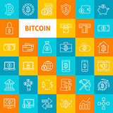 Vector Line Bitcoin Icons