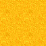 Yellow Line Bitcoin Seamless Pattern