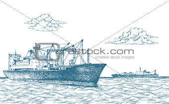 Cargo ship, reefer Baltic Forward