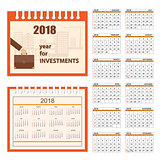 business calendar for wall 2018