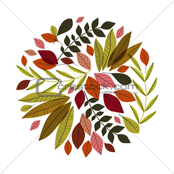 Autumn leaves decoration