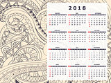wheat color tangle zen pattern calendar year 2018