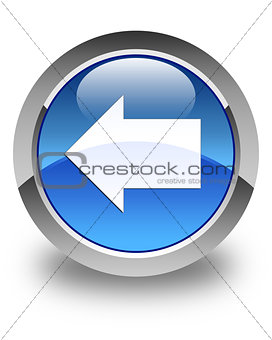 Back arrow icon glossy blue round button