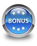 Bonus icon glossy blue round button