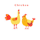 Funny chicken graphics