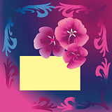 Purple floral card