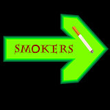 Right sign arrow for smokers