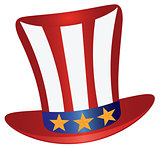 Fourth of July Hat Gold Stars Illustration