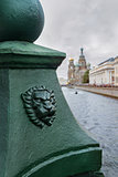 Waterfront canal in St. Petersburg,