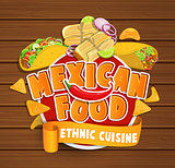 Mexican food logo.