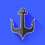 Sea Metal Anchor Silhouette