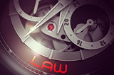 Law on Men Watch Mechanism. 3D.