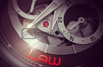 Law on Men Watch Mechanism. 3D.