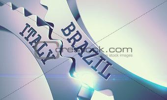 Brazil Italy - Mechanism of Metal Cog Gears. 3D.