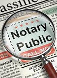 Job Opening Notary Public. 3D.