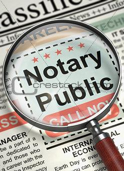 Job Opening Notary Public. 3D.