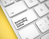 Bankruptcy Counseling Online - Text on the White Keyboard Key. 3