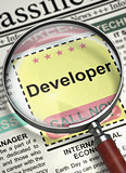 Developer Join Our Team. 3D.