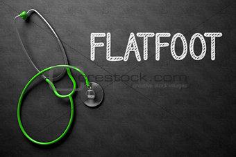 Flatfoot on Chalkboard. 3D Illustration.