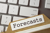 Archive Bookmarks of Card Index-Forecasts. 3D.