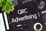 Black Chalkboard with QRC Advertising. 3D Rendering.
