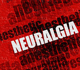 Modern healthcare concept: Neuralgia on the Red Brickwall .