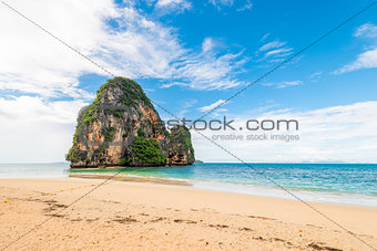 Ko Rang Nok rocky mountain in the Andaman Sea, Thailand
