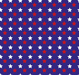 Independence Day of America seamless pattern. July 4th endless background. USA national holiday repeating texture with stars. Vector illustration.