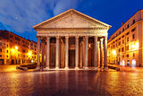 The Pantheon at night, Rome, Italy