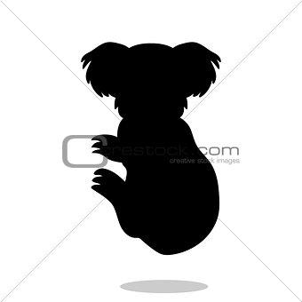 Koala marsupial mammal black silhouette animal