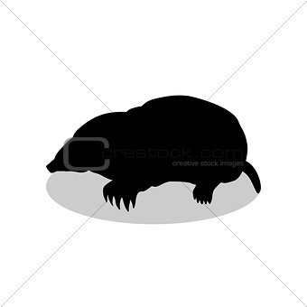 Mole insectivores mammal black silhouette animal