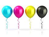 CMYK balloons