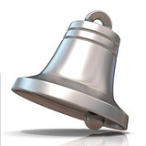 Silver Christmas bell