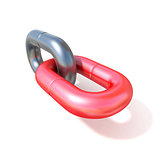Single chain link icon 3D