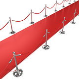 Red carpet, diagonal side view