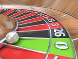 Macro view of a roulette table. Green zero. 3D