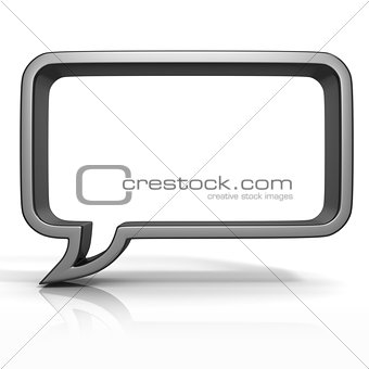 Black speech bubble 3D