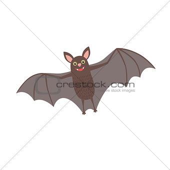 Smiling bat flying