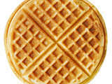 plain belgium american waffles isolated