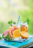 Water detox with Grapefruit and Orange