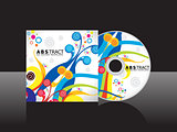 abstract artistic cd cover template