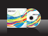 abstract artistic rainbow cd cover template