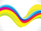 abstract artistic colorful line wave background