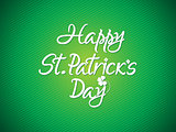 abstract artistic st patrick text