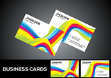 abstract rainbow business card