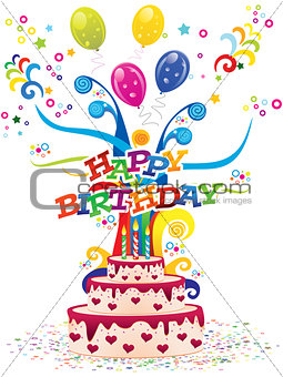 abstract colorful artistic birthday background