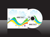 abstract colorful rainbow cd cover template