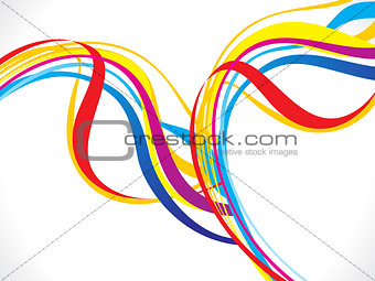 abstract rainbow line wave background