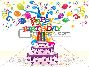 abstract colorful birthday background