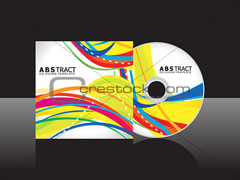 abstract yellow cd cover template